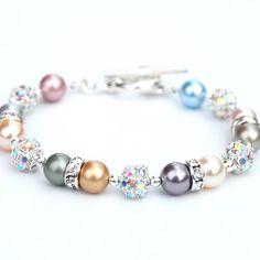 Vintage tints swarovski pearls and rhinestones