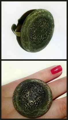 "Ring ""Moss"" #polymerclay #handmade"