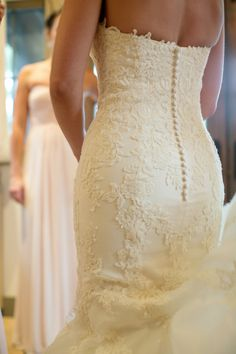 Appliqued Bridal Gown by Enzoani | Photography by Vanessa
