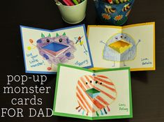 From toddler scribbles to stick-figure family portraits to poetic odes to Dad, homemade cards from the kids are such a sweet part of our Father's Day celebration. This year, we're making some silly pop-up monster cards. My two-year-old loves making... Continue Reading →