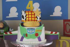 Awesome cake at a Toy Story birthday party! See more party planning ideas at CatchMyParty.com!