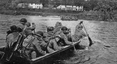 The 71st Regiment, 44th Division crosses the Danube River toward the Austrian Alps
