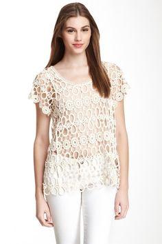 Open Crochet Top