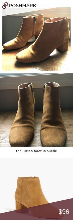 Madewell Lucien boot in suede Lovely shoes. Bought from store and worn once. Great condition as shown there is a tiny bit of gentle wear on front. May be unnoticeable when wearing, but I wanted to disclose anyway. Reasonable offers welcome. Madewell Shoes Ankle Boots & Booties