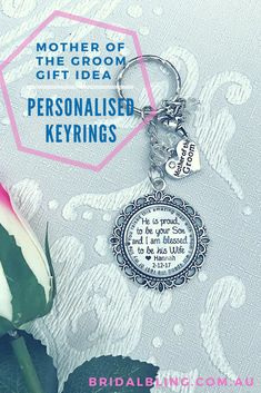 Key ring Personalised, Mother of the groom gift, wedding gift for mother of the groom, personalised keyrings