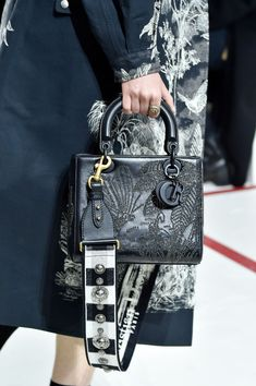 PARIS, FRANCE - FEBRUARY A model, bag detail, walks the runway during the Christian Dior show as part of the Paris Fashion Week Womenswear Fall/Winter on February 2019 in Paris, France. (Photo by Peter White/Getty Images) Dior Handbags, Fall Handbags, Cheap Handbags, Fashion Handbags, Fashion Bags, Fashion Accessories, Paris Fashion, Luxury Handbags, Dior Bags