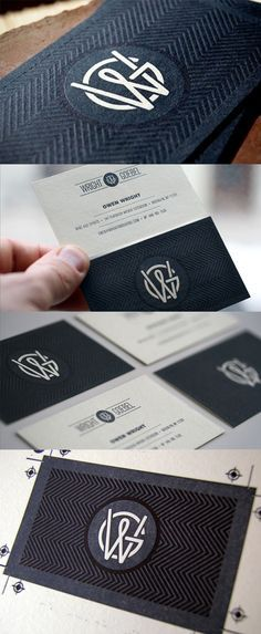 Beautifully Textured Letterpress Business Card Design on