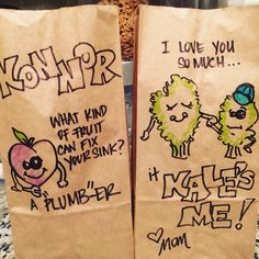 This Mom Makes Her Kids Groan Every Day With Amazing Lunchbag Puns Since September, Aguilar has been drawing adorable, pun-filled lunchbag designs for Kale, and Konnor, Birthday Puns, Last Day Of School, Love Languages, Drawing Skills, Food Pictures, Food Pics, Mommy And Me, Cool Kids, Kids Fun