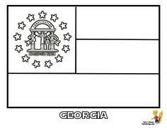 Print Out Your States Flag Coloring Pages