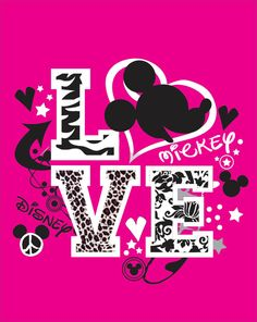 Disney Mickey Love Shirts by WhitefishCreations on Etsy, $20.00