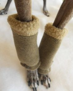Shearling Fleece Leg Warmers for Dogssmall 4 colors par hatz4brats, $18,50