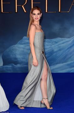 Lily James was stunning at the UK premiere for Cinderella #LilyJames #Style #Fashion #CelebrityFashion #StyleInspiration