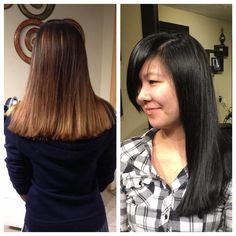 ombre to black by Abbey