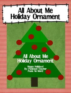 Free All About Me Holiday Ornament!!! Possible Parent Gift!