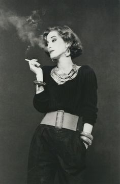 "Anglo-French fashion designer and Yves Saint-Laurent fashion muse, Loulou de la Falaise, described as 'an aristo party girl', and ""the quintessential Rive Gauche haute bohémienne"" (1970's)"