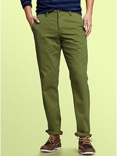 Time to try something new? Denim-washed khakis slim fit... hmmm.