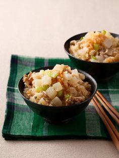 大根と豚バラの炊き込みご飯 Pork Belly & Daikon Rice