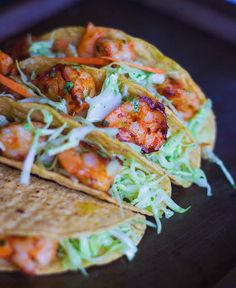 When you want your dinner ready in Less than 30 Minutes, make this EASY SHRIMP TACOS with Cilantro Garlic Mayo. Shrimp Taco Recipes, Fish Recipes, Mexican Food Recipes, Easy Shrimp Tacos, Shrimp Taco Sauce, Shrimp Taco Seasoning, Shrimp Nachos, Fish Tacos, Recipies
