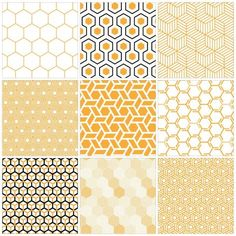 Textile Pattern Design, Textile Patterns, Printable Scrapbook Paper, Printable Stickers, Honey Logo, Honey Brand, Country Interior Design, Kindergarten Design, Honeycomb Pattern