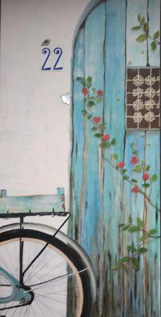 Puerta nº22 - Oleo sobre tela #sandraromani #artonbcn #artecontemporaneo #artebenarcelona #pintura