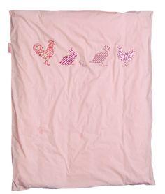 Bettwäsche rosa Huhn und Freunden 100x135cm