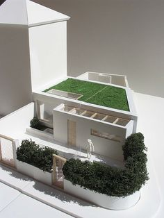 Foam board model houses