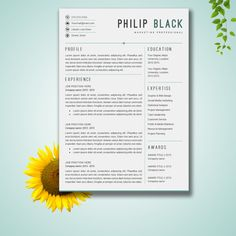 resume template word cv template cover letter by resumelucky
