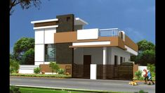 Independent House Front Inspirations And Attractive Elevations Of Houses Pictures - Nugadesigns House Front Wall Design, Single Floor House Design, Simple House Design, House Design Photos, Floor Design, House Floor, Independent House, Front Elevation Designs, House Elevation