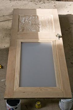 How to add frosted plexiglass to a solid door for a bit of amazing pizazz! Glass Bathroom Door, Glass Door, Master Bathroom, Farm Door, Diy Barn Door, Laundry Doors, Basement Laundry, Laundry Area, Kitchens
