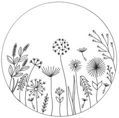 Hand Embroidery Pattern design - Wildflowers / PDF Pattern/ wildflowers design for colouring /flower embroidery / Template for transfer Hand Embroidery Patterns Free, Embroidery Flowers Pattern, Vintage Embroidery, Embroidery Art, Embroidery Stitches, Indian Embroidery, Machine Embroidery, Simple Embroidery Designs, Embroidery Suits