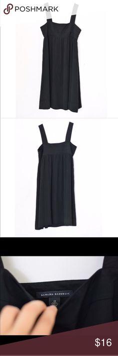 """Banana Republic Little Black Dress Excellent condition; 40"""" L 19"""" pit to pit has side zipper Banana Republic Dresses Mini"""