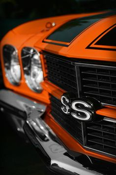 Orange is one of my favorite colors! Not all cars could pull it off but this one sure can - 1970 Chevelle SS 396