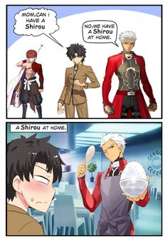 Don't forget that we have Shirou since day - grandorder Fate Archer, Shirou Emiya, Fate Stay Night Anime, Anime Songs, Fate Servants, Manga Collection, Fate Anime Series, Fate Zero, Cool Cartoons