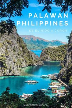 My program for a dream week in Palawan - Ma Petite Escale - philippines holiday Voyage Philippines, Les Philippines, Philippines Travel, Coron Palawan Philippines, Palawan Island, Siargao, Bohol, Cebu, Palawan Tour