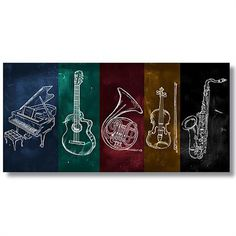 Tictac TT3-2 Jazz Müzik Kanvas Tablo - 40x80 cm