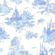 Disney Princess Toile Fabric- Would be awesome for a Tangled nursery.