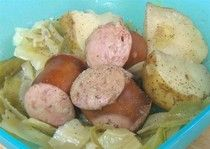 slow cooker polish sausage and cabbage