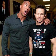 The Rock & Mark Wahlberg Patriots Memes, Nfl Memes, Patriots Fans, Football Memes, Go Pats, New England Patriots Football, Best Football Team, Boston Strong, Boston Sports