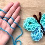 Butterfly Finger Knitting How To