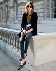 Alexa Chung.  Love her whole look.