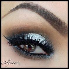 Silver smoky eye