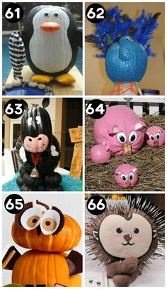 Cute Pumpkin Decorating Ideas- carve and NO carve ideas for kids.