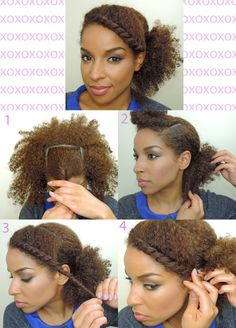 sidetwist pony. I would definitely try this style. Easy and cute.