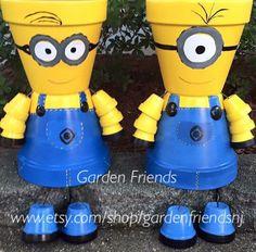 Resultado de imagem para bonecos de vasos de ceramica - Gartendeko aus tontopfen ...