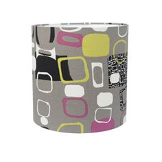 Grey patterned lampshade