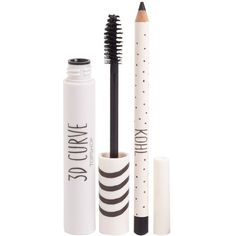 Topshop 3D Curve mascara and kohl pencil duo adds the perfect amount of smolder to your look. The pair of eye products come packaged in a stylish reusable PVC b...