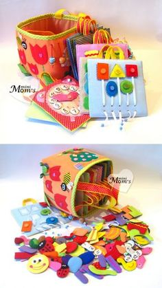 A big developing toy set of tablets 12m /Quiet Book by MiniMoms