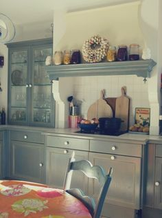 "Sneak Peek: A Jewelry Maker's Provençal Home. ""Kitchen and breakfast table."" #sneakpeek"