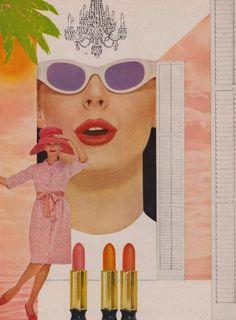 vintage 60's max factor lipstick ad.