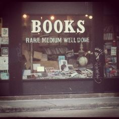"""Love this! """"Rare, medium & well done books. Waiter, I'd like my books well done please."""